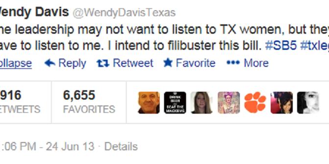 SB5 Falls: Wendy Davis, Texas Women Still Standing
