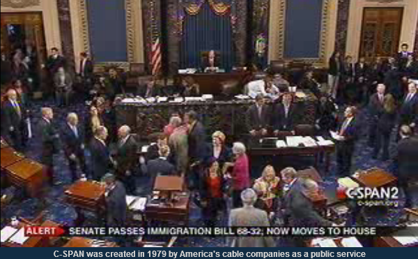 BREAKING:  Immigration Reform Bill PASSES the Senate, 68-32