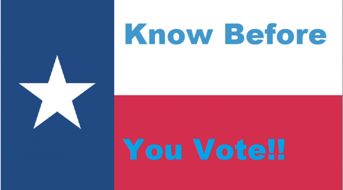 The Texas Leftist Candidate Questionnaire (TLCQ)