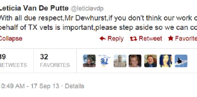 Lt. Gov. David Dewhurst Hates Veterans?