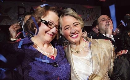 Annise Parker, Partner Wed in California!!
