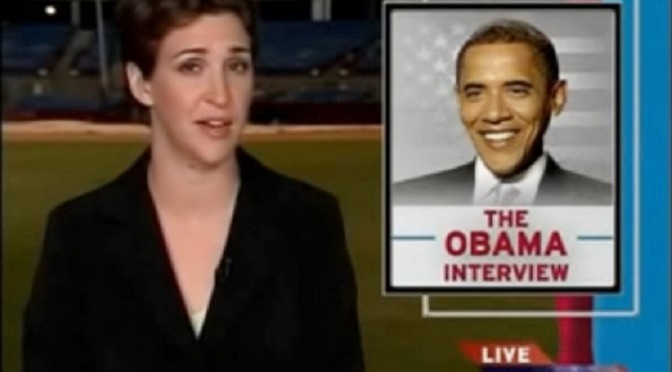 Is President Obama Afraid of Rachel Maddow?