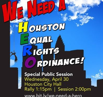 Today's the Day for Equal Rights in Houston!!