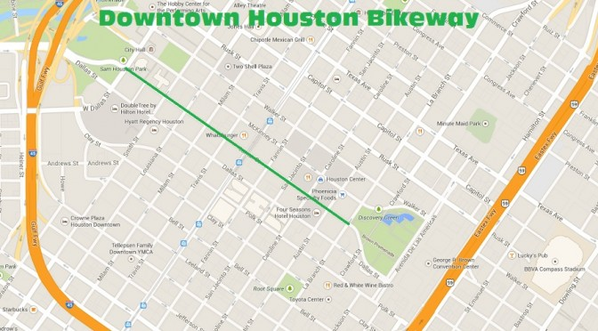 Downtown Houston To Get First Dedicated Bikeway