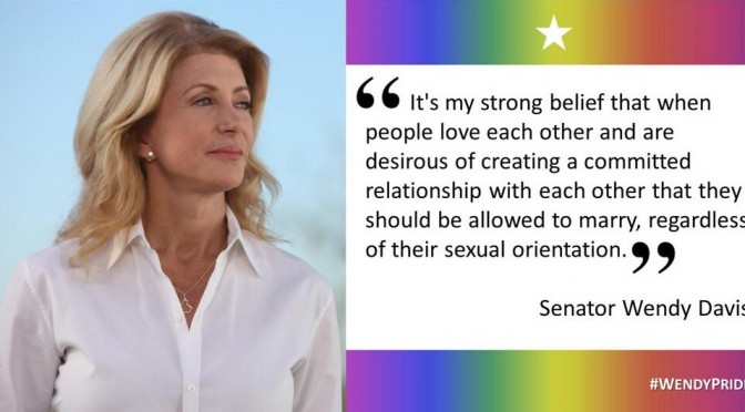 Wendy Davis on LGBT Issues