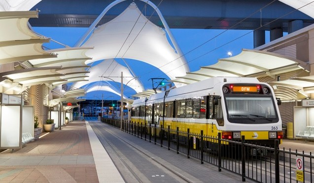 Dallas: DART Orange Line Rolls Into DFW Airport