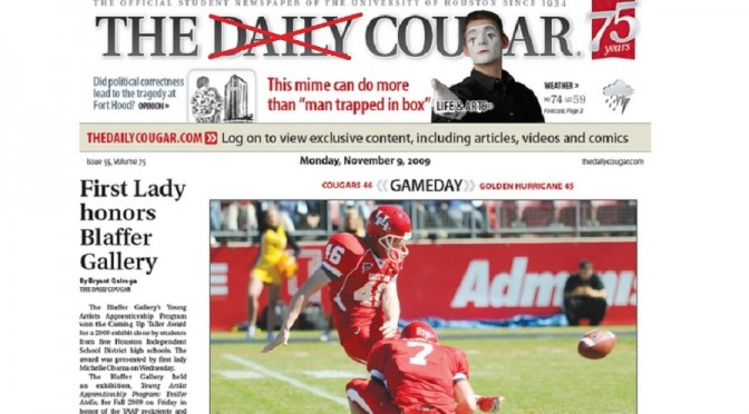 No More 'Daily' for University of Houston's Newspaper
