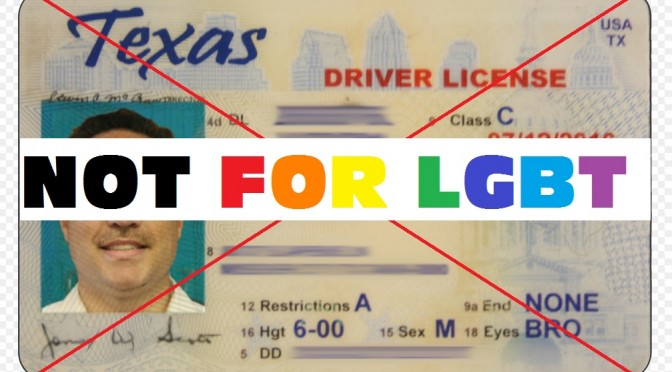 DPS Discrimination:  Texan Refused License Over Marriage Certificate