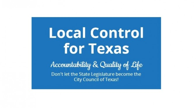 Local Control Texas Launches, Builds Support