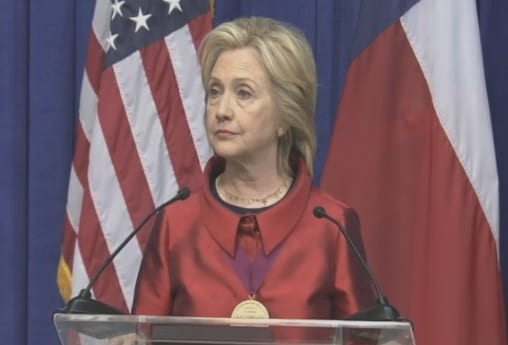 Hillary Clinton Talks Voting Rights In Houston