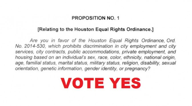 Final Ballot Language Approved for Houston Equal Rights Ordinance