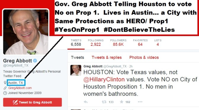 Greg Abbott Opposes Houston Prop1, Forgets Minor Detail
