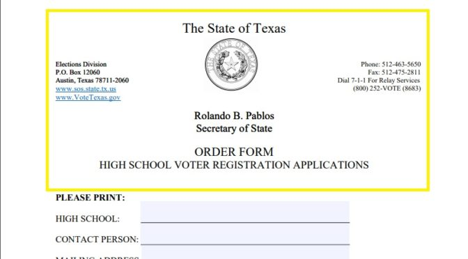 Missing Out:  Texas High Schools Way Behind On Voter Registration Mandate